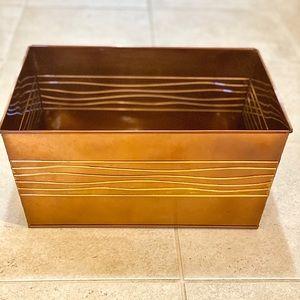 Copper/metal/tin bin